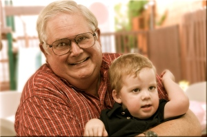 My beloved Daddy and Callum at his 3rd birthday party.  Taken a few weeks before his passing.